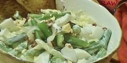 Tejfölös-tojásos zöldbabsaláta
