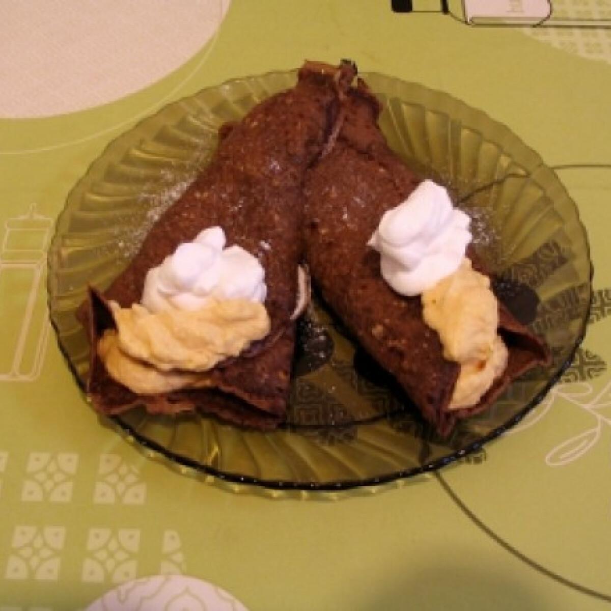 Ezen a képen: Sütőtökös krémmel töltött palacsinta