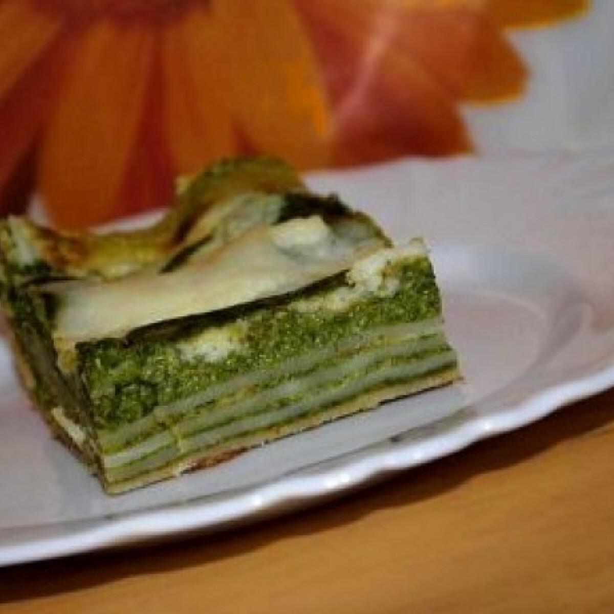 Ezen a képen: Spenótos lasagne 3. - sajtmártással