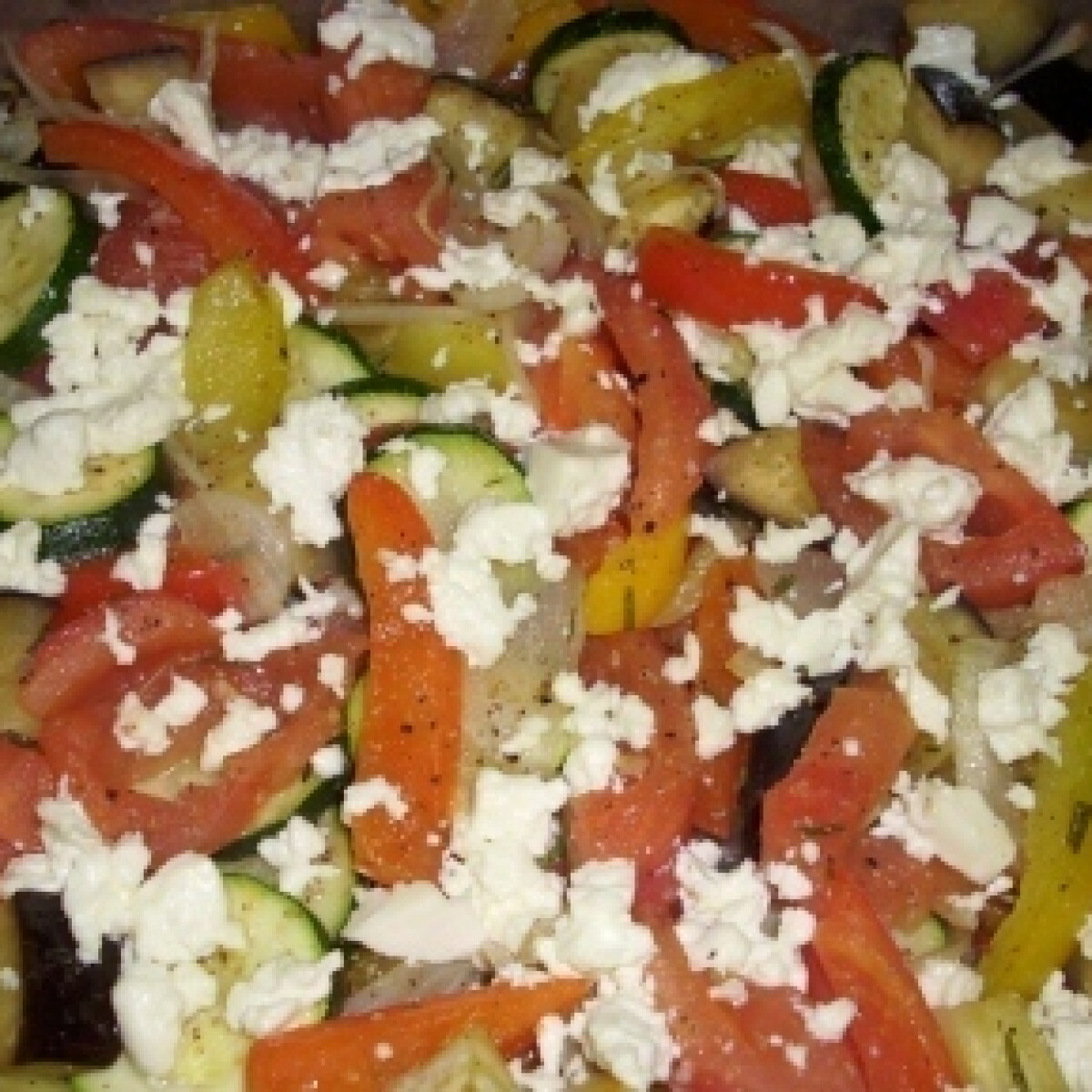Sült mediterrán zöldség
