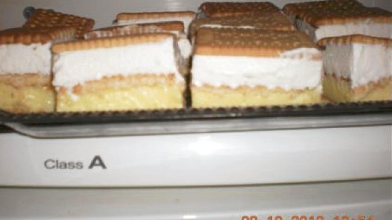 Hamis francia krémes kekszből
