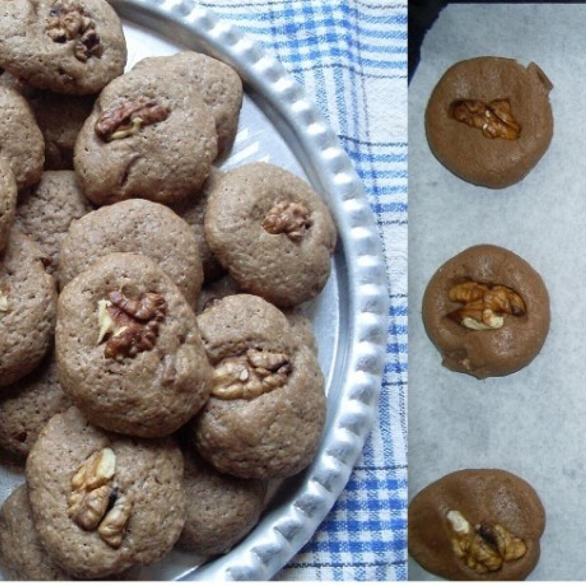 Ezen a képen: Csokis - diós keksz