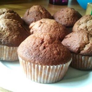 Étcsokis-banános muffin
