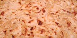 Sonkás-gombás-túrós tészta