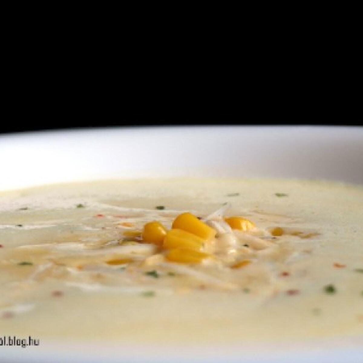 Ezen a képen: Curry-s kukoricakrémleves
