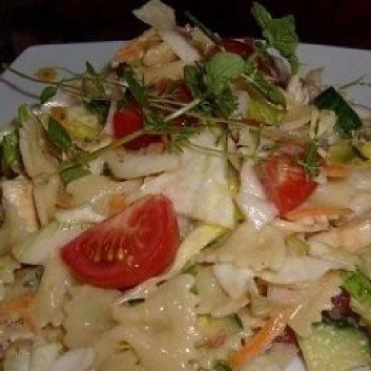 Ezen a képen: Csirkés saláta