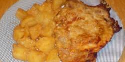 Mustáros sertéssült (2.) tepsis burgonyával
