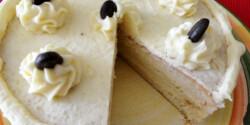 Mandulakrémes torta