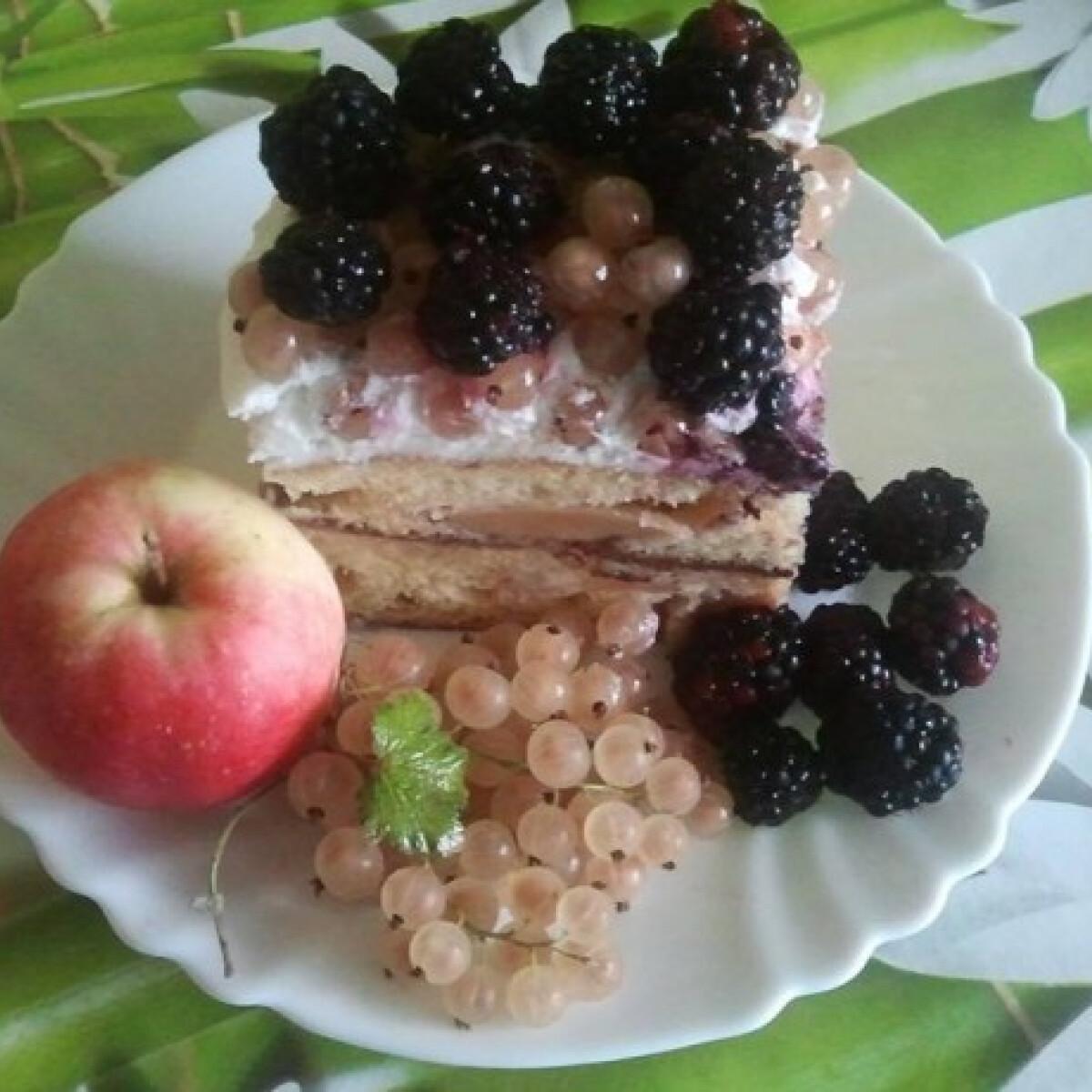 Ezen a képen: Nyári gyümölcsös habos kocka