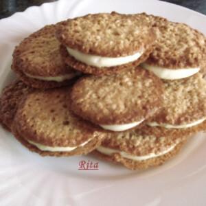 Citromkrémes csipkés keksz