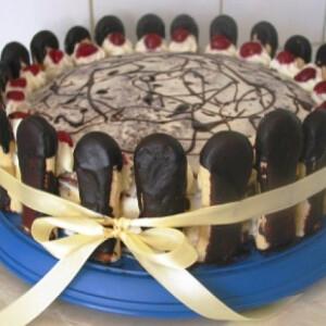Gesztenyés-meggyes torta Gabystól