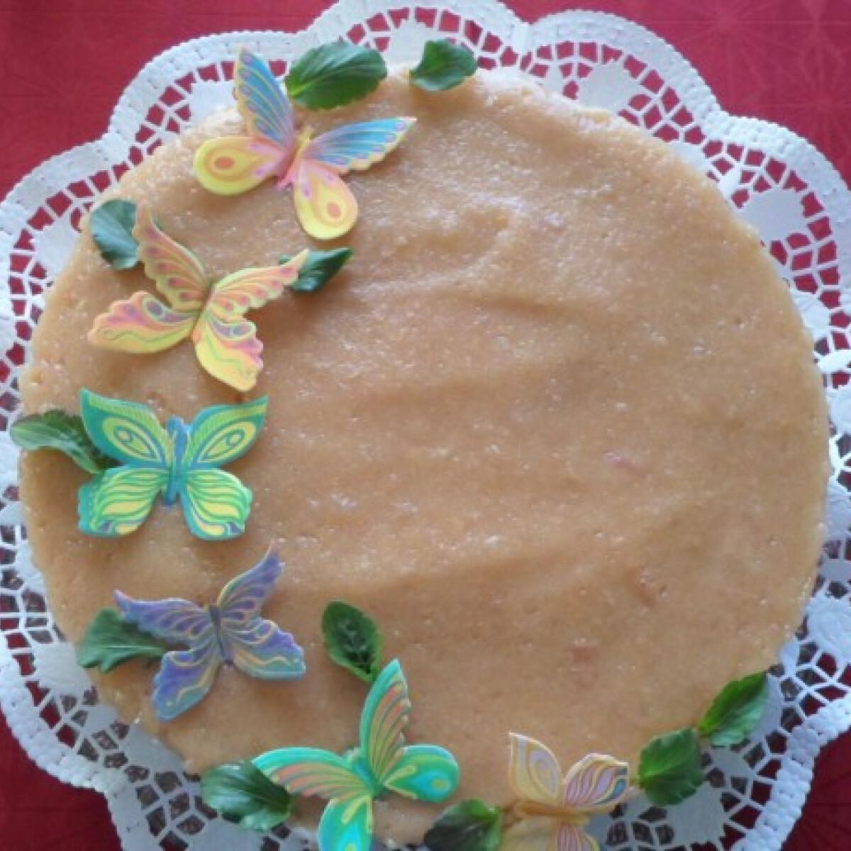 Sütés nélküli pillangós torta