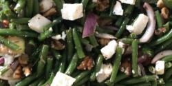 Fetás-kapros zöldbabsaláta