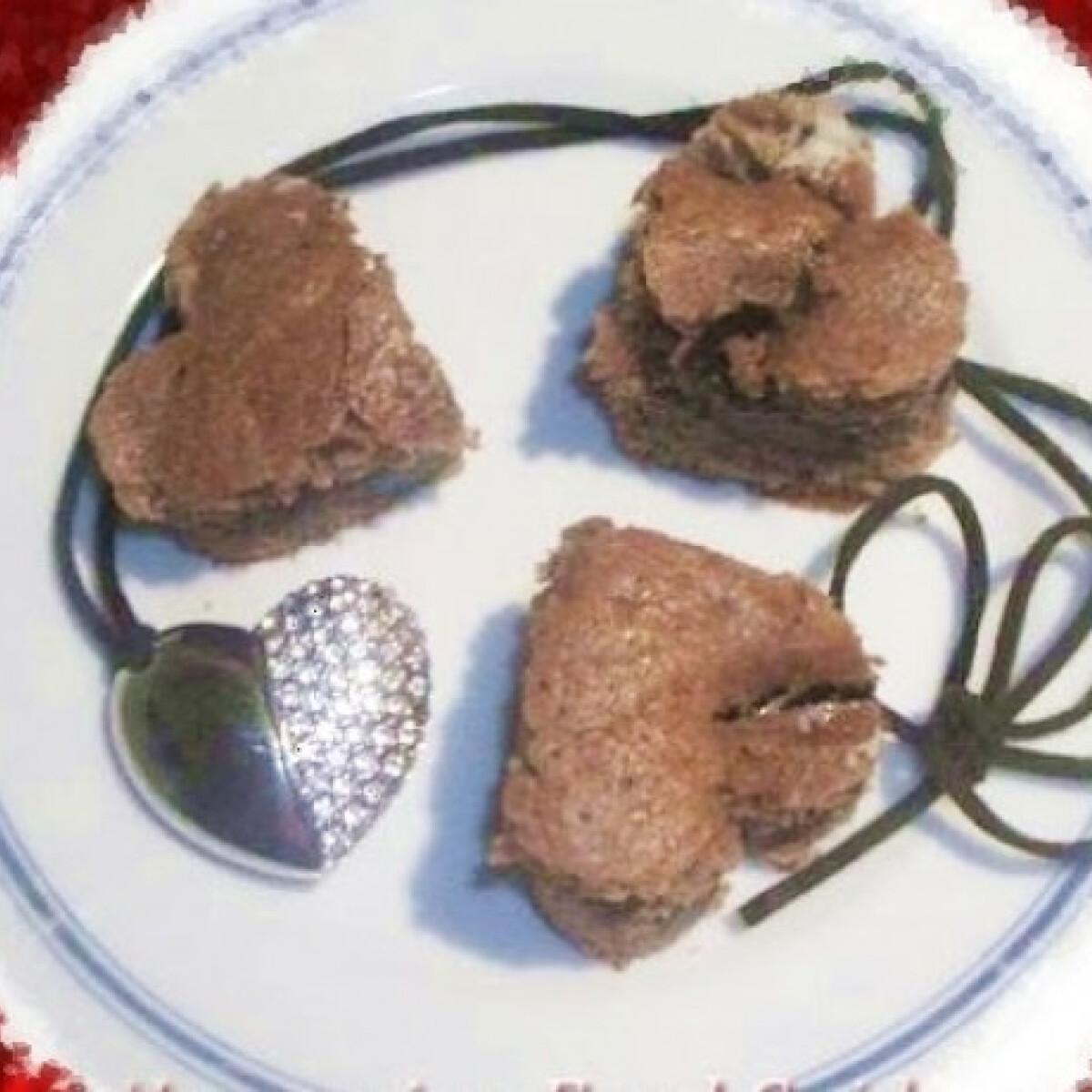 Csokis kráter szívek
