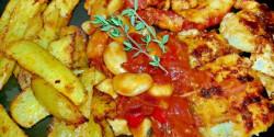 Grillezett pikáns halfilé és rák babos salsaval