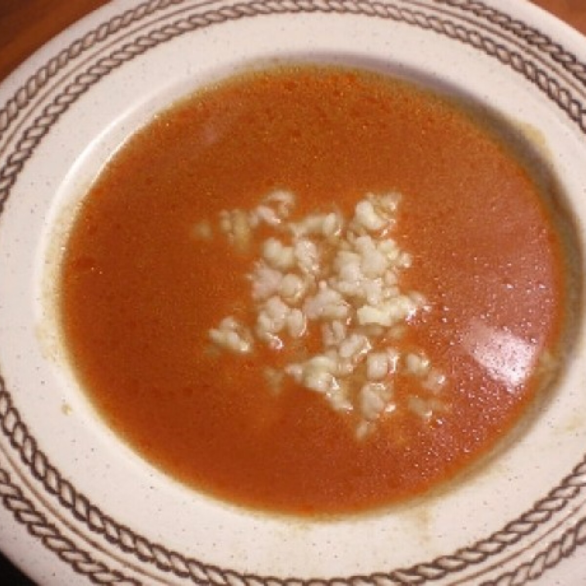 Ezen a képen: Paradicsomleves tésztával gluténmentesen
