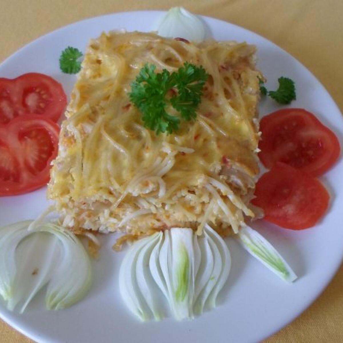 Ezen a képen: Lecsós-tojásos spagetti