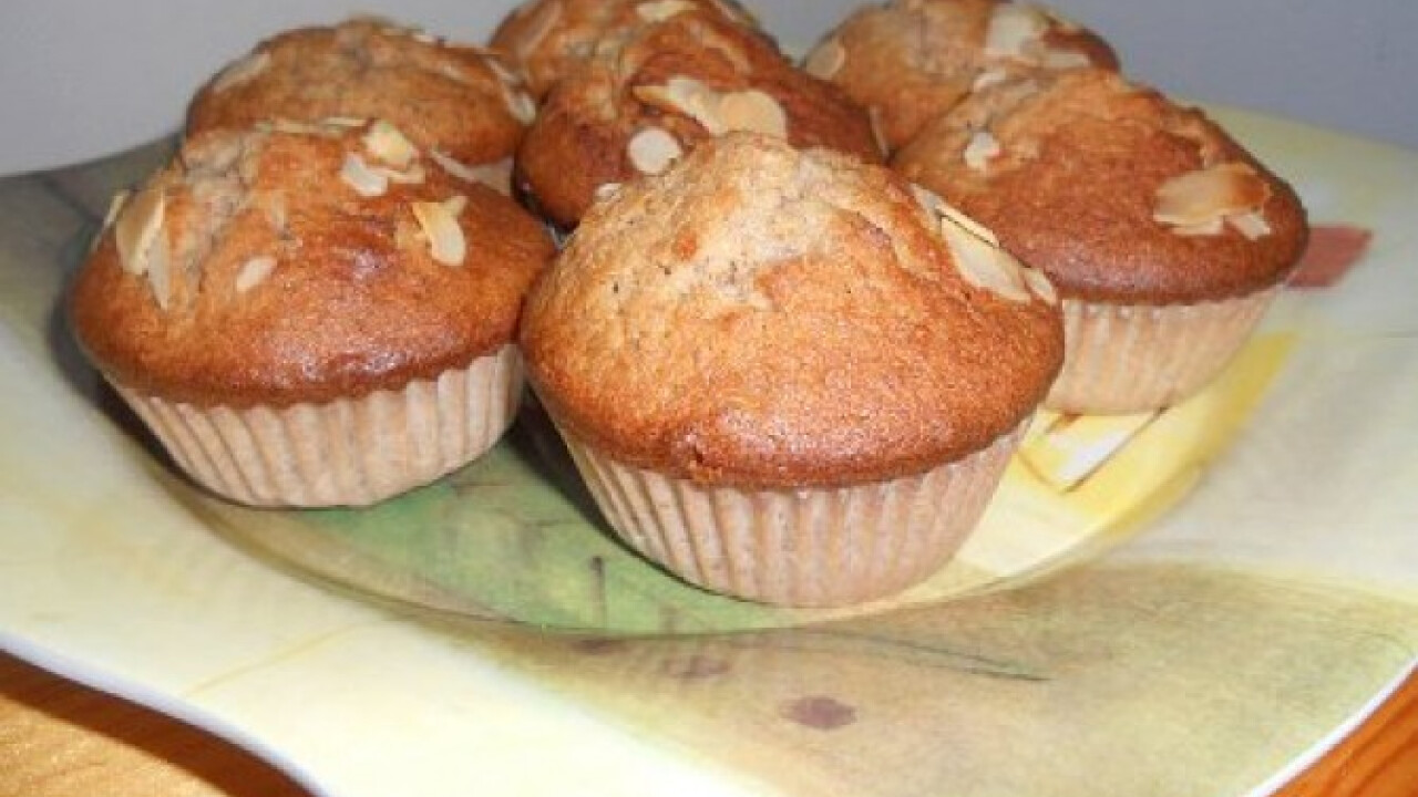 Marcipános-diós muffin