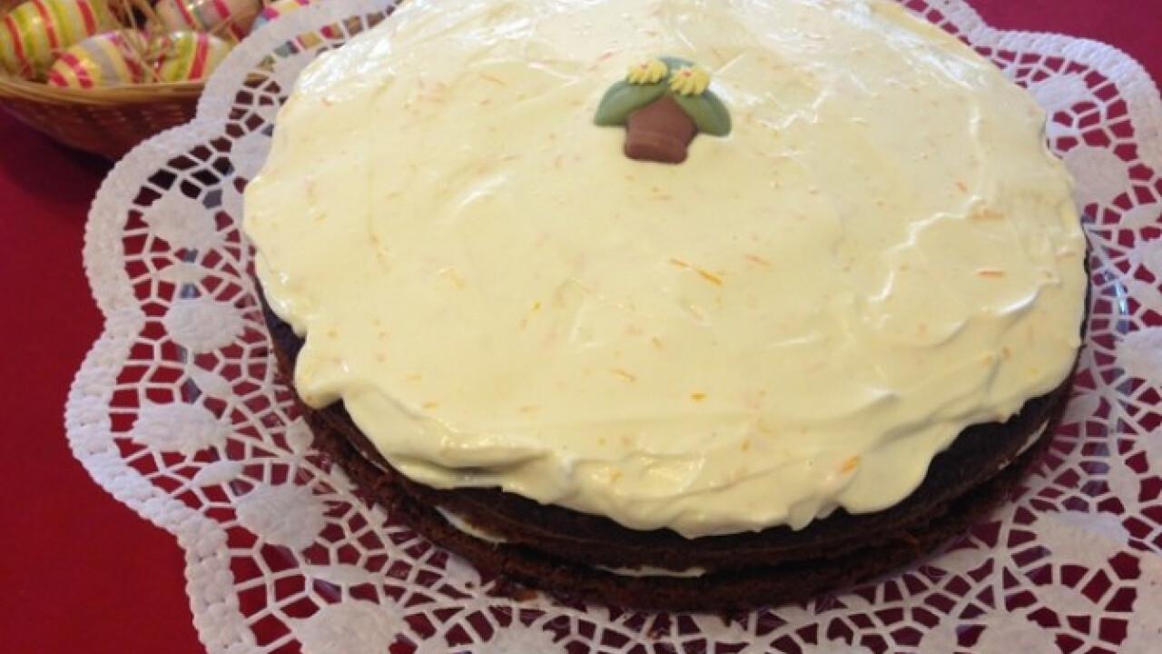 Mascarponés-narancsos húsvéti torta