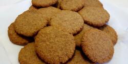 Teljes kiőrlésű diós-fahéjas keksz