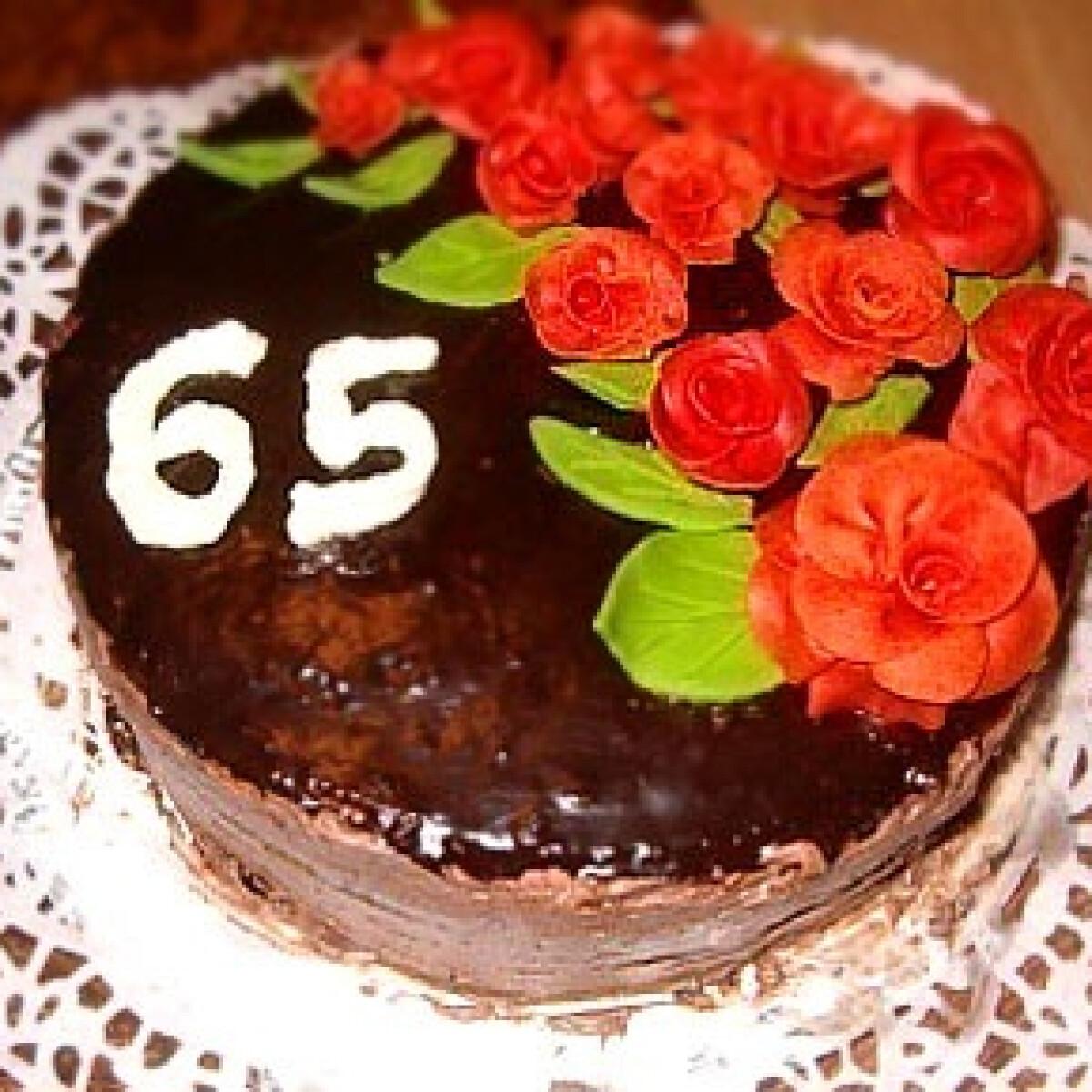 Ezen a képen: Szivárványos csokoládé torta -Csokitorta 6.