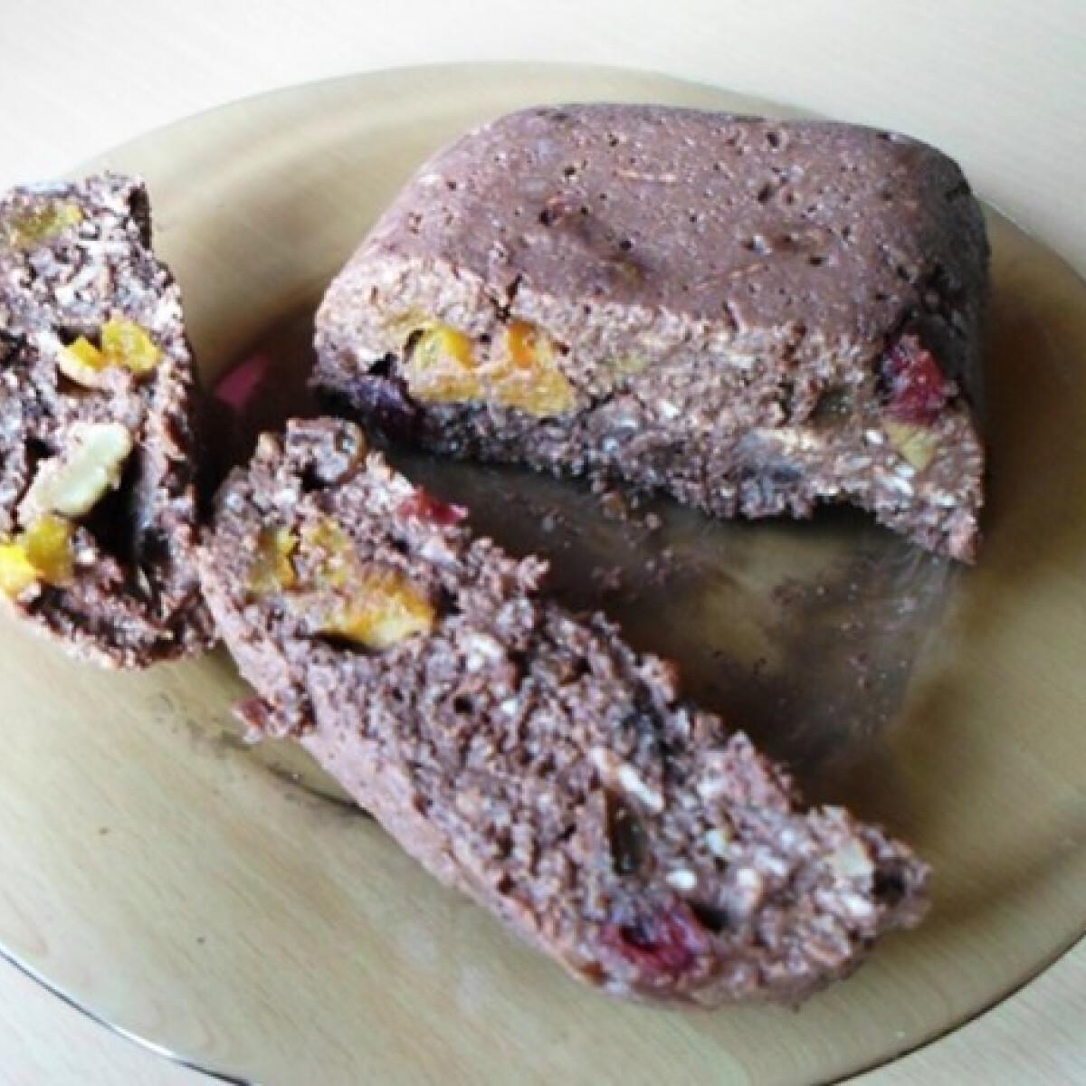 Ezen a képen: Puffasztott rizses-főzős-diétás csokitorta
