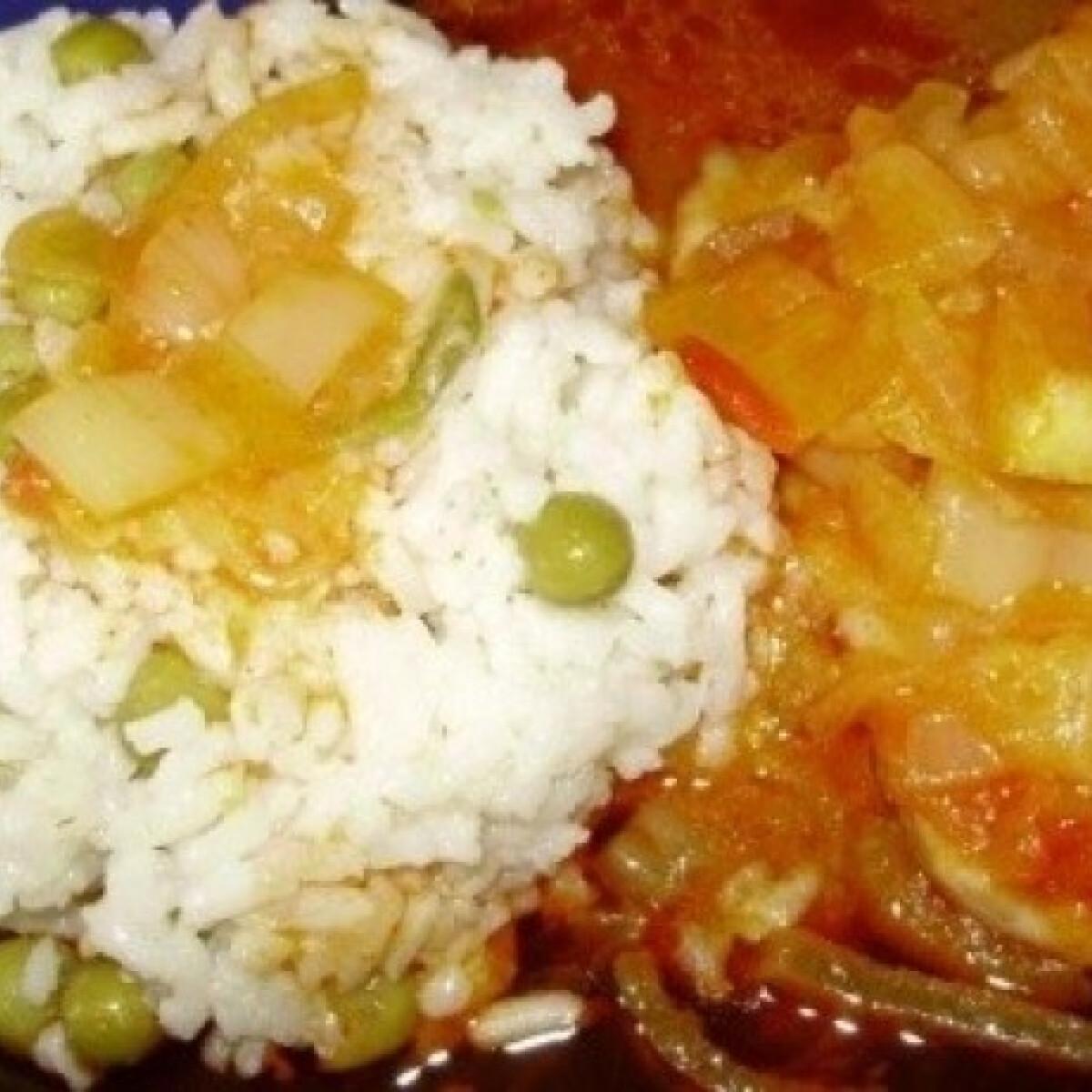 Ezen a képen: Hagymás karajszeletek rizi-bizivel