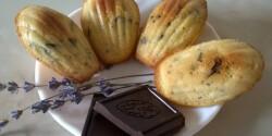 Levendulás-csokoládés madeleine