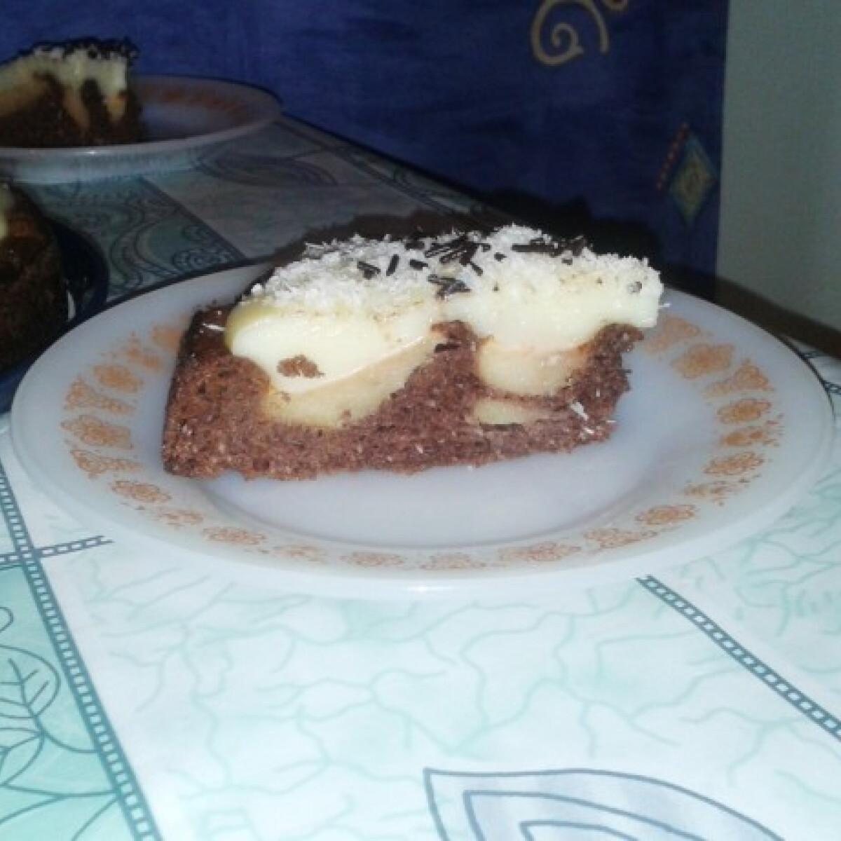 Ezen a képen: Kakaós-kókuszos almatorta