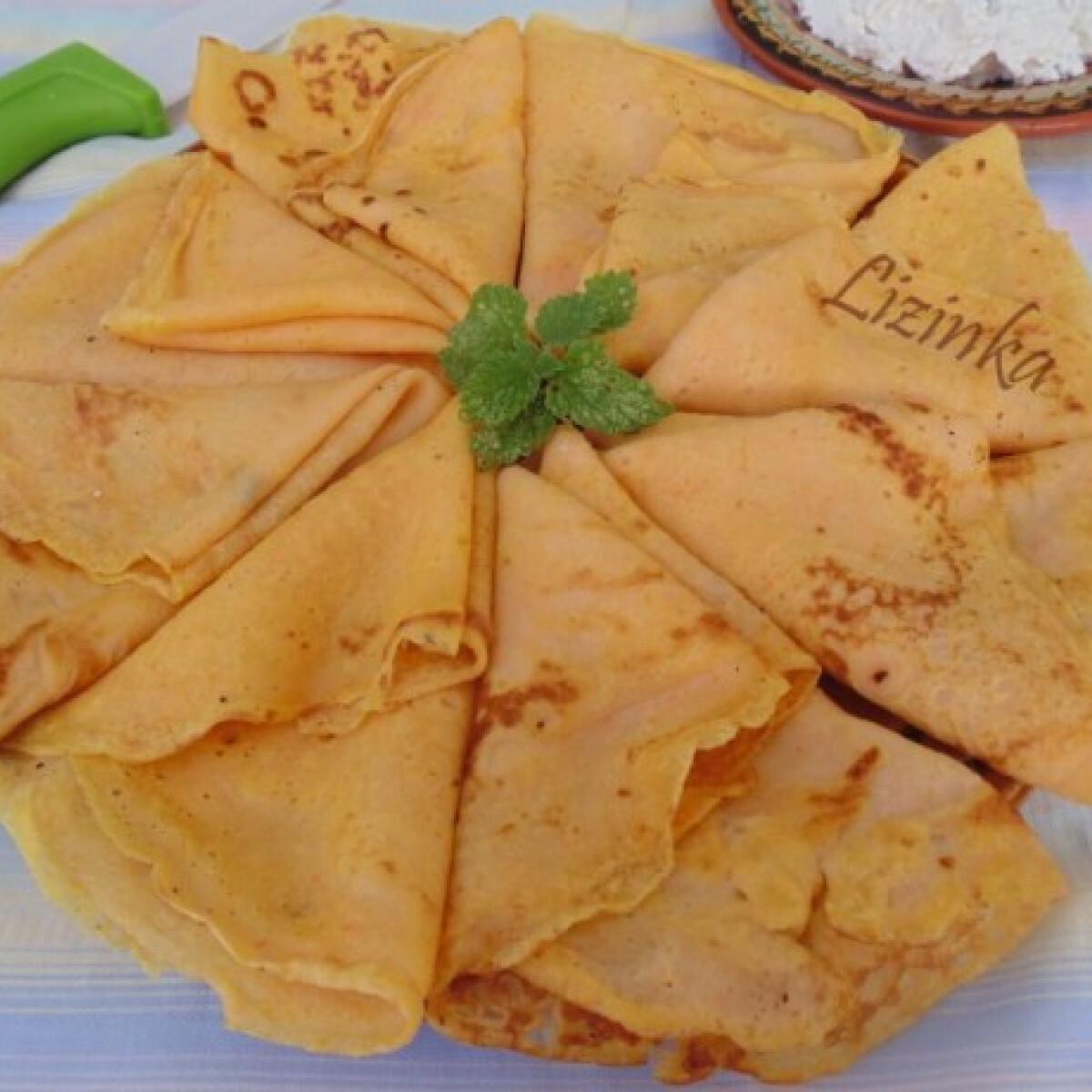 Ezen a képen: Sütőtökös palacsinta Lizinka konyhájából