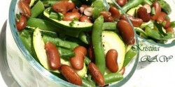 Tavaszi babsaláta cukkinivel
