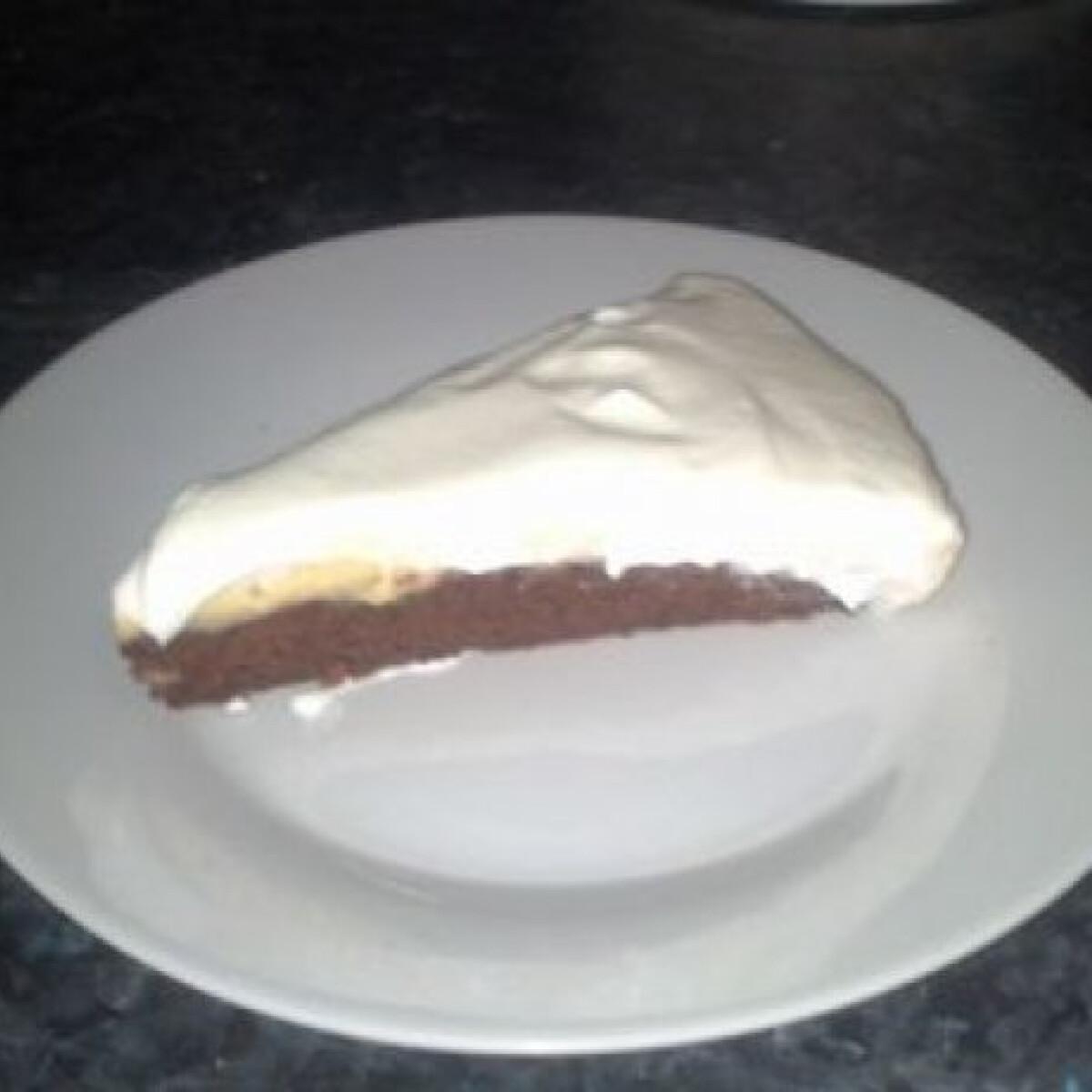 Ezen a képen: Diétás csoki-vanília torta