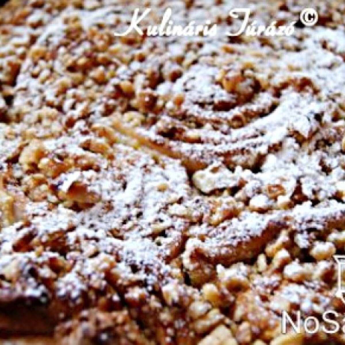 Ezen a képen: Diós csiga tortaformában sütve