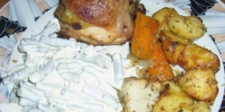 Töltött-sült csirkecomb