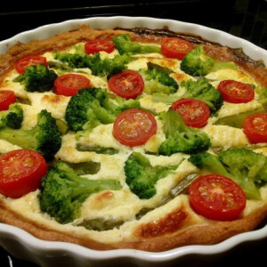 Brokkolis sós pite