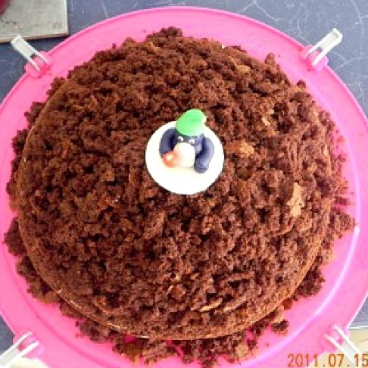 Ezen a képen: Vakondtúrás torta Nyuszimusz konyhájából