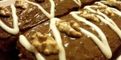 Őzgerincben sült csokis-diós süti