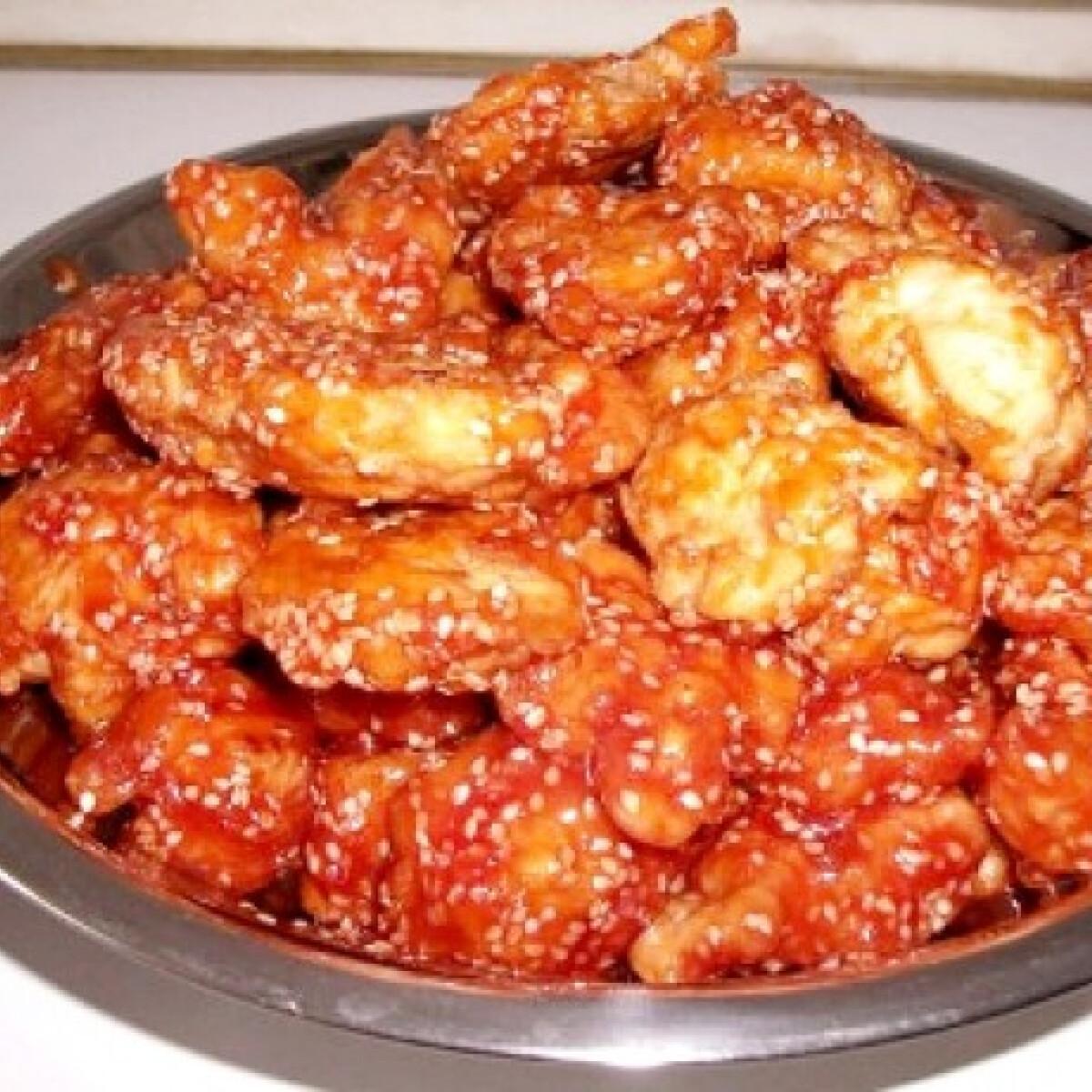 Ezen a képen: Kínai szezámmagos-ketchupos csirkemell