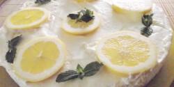 Hűsítő citromos-mascarponés torta