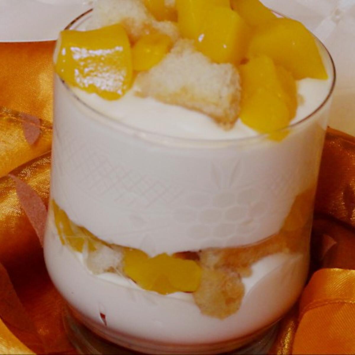 Citromos túrókrém mangóval