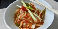 Koreai kimchi – káposztasaláta
