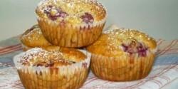 Zabpelyhes-meggyes muffin