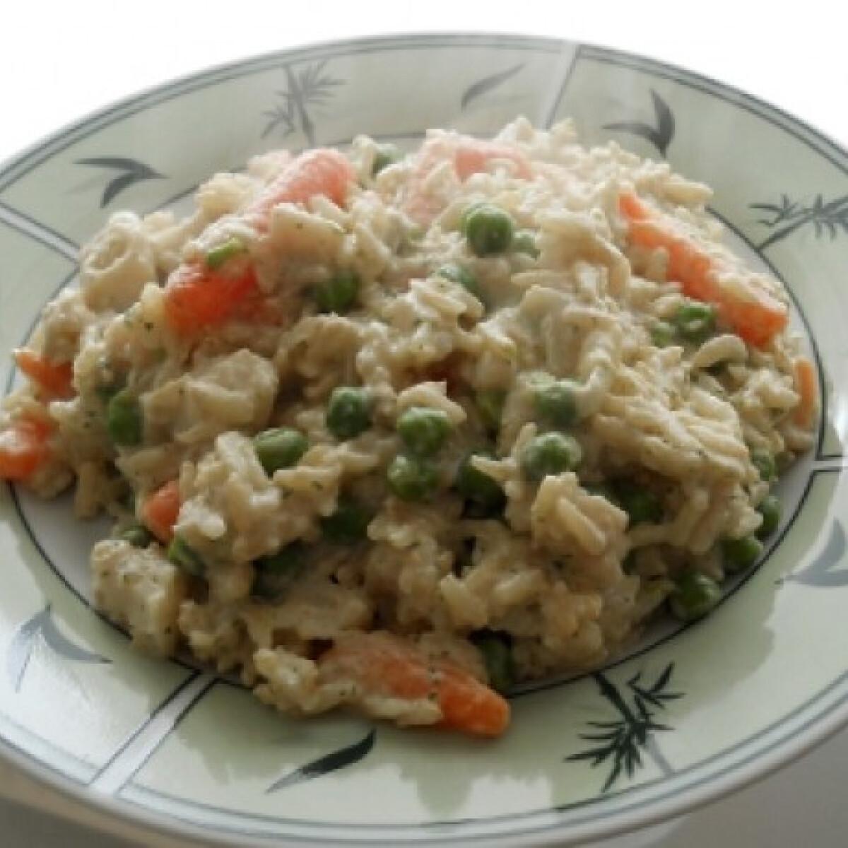 Ezen a képen: Zöldséges-rizses hal