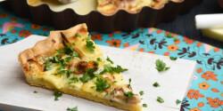 Őszi zöldséges pite brie sajttal