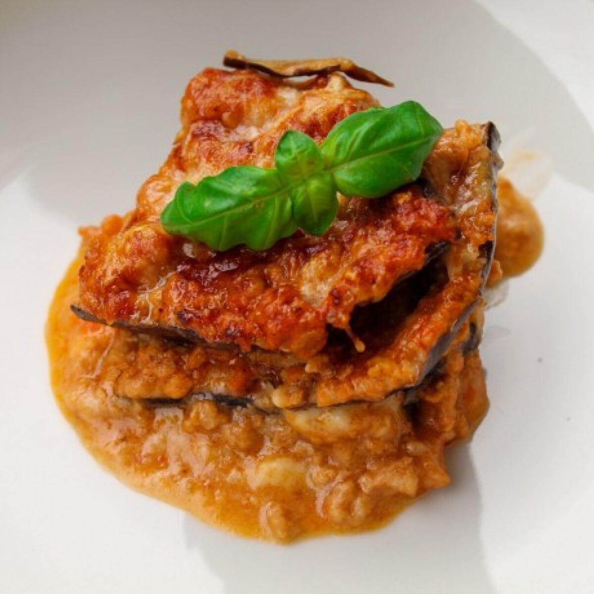Ezen a képen: Padlizsán-lasagne