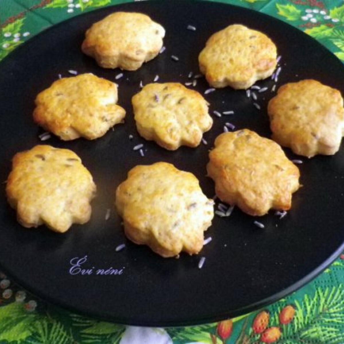 Narancsos-levendulás keksz