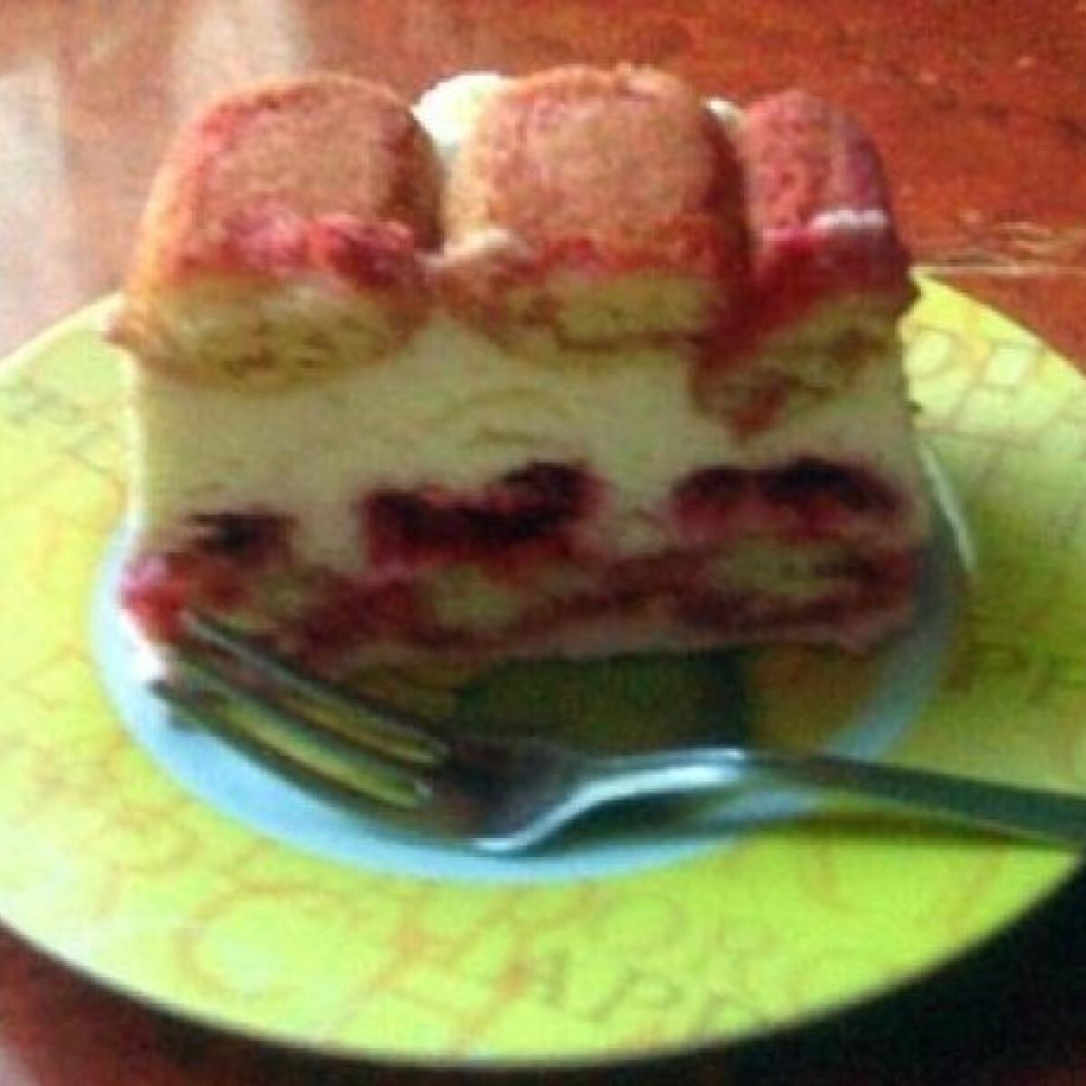 Málnás-túrós desszert