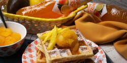 Gofri citrom sorbet-val