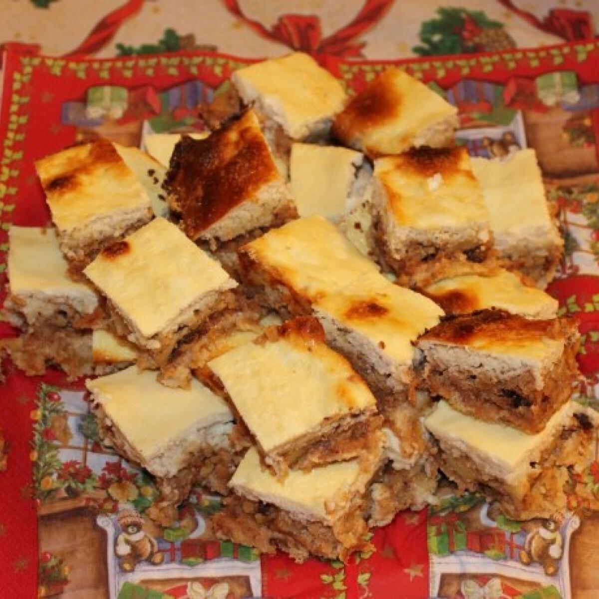 Mandulalisztes almás pite