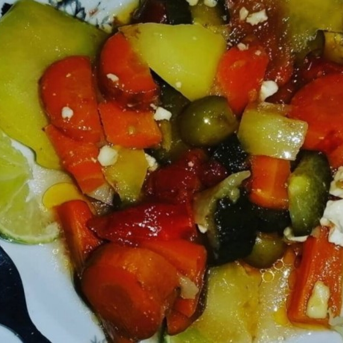 Ezen a képen: Sültzöldség-orgia Mariann módra
